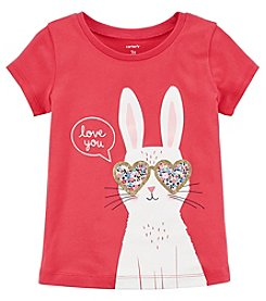 Carter's Girls' 2T-5T Short Sleeve Love You Bunny Tee