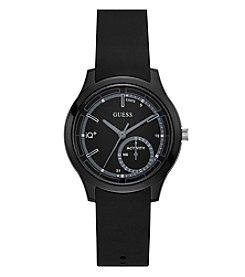 GUESS Unisex Black Silicone Case Watch