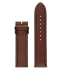 GUESS Brown Leather Watch Strap