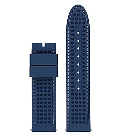GUESS Blue Textured Silicone Strap Watch