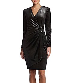 Calvin Klein Metallic Buckle Sheath Dress
