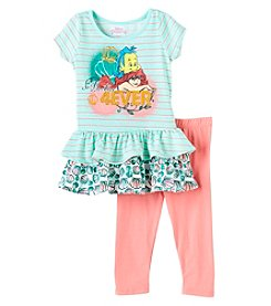 Disney Girls' 4-6X 2 Piece Ariel Besties Tunic And Leggings Set