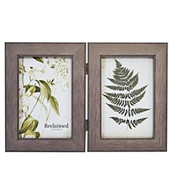 New View Two Photo Hinged Wood Frame