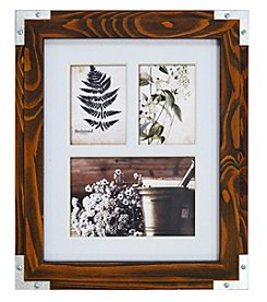 New View Three Photo Collage Wood Frame