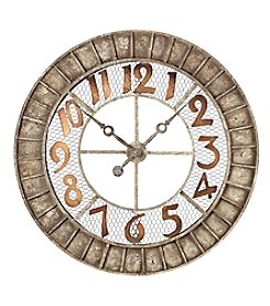 Sterling Round Metal Outdoor Wall Clock