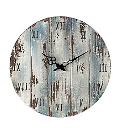 Sterling Wooden Roman Numeral Outdoor Wall Clock