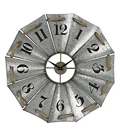 Sterling Priory Road Aluminum and Rope Wall Clock