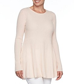 Premise Cashmere Bell Sleeve Peplum Pullover