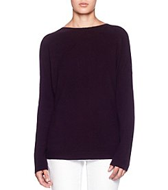 Premise Cashmere Lace Up High-Low Pullover