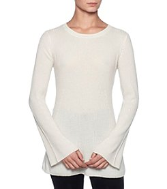 Premise Cashmere Bell Sleeve Crewneck Pullover