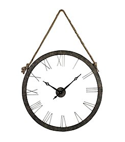 Sterling Leona Metal Rope Hung Wall Clock