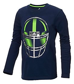 adidas Boys' 2T-5 Long Sleeve Defense Helmet Tee