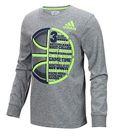 adidas Boys' 2T-6 Long Sleeve Half Time Basketball Tee