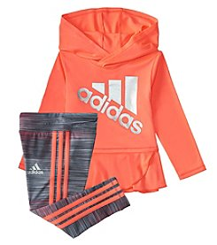 adidas Baby Girls' Made to Move Peplum Hoodie and Leggings Set