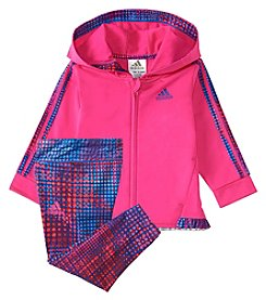 adidas Baby Girls' 12-24M Colors Ignite Tricot Set