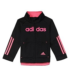 adidas Girls' 4-6X Linear Tricot Jacket