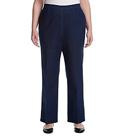 Alfred Dunner Plus Size Denim Pintuck Pants