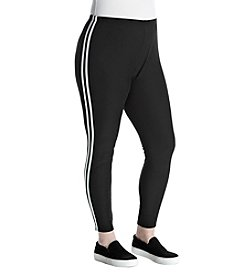 no comment Plus Size Side Stripe Detail Leggings