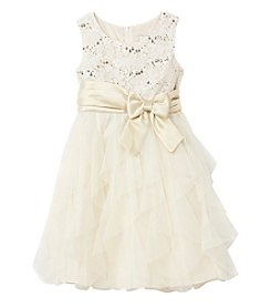 Rare Editions Girls' 4-6X Lace Bodice Dress