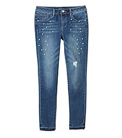 Blue Spice Girls' 7-14 Allover Pearl Skinny Jeans