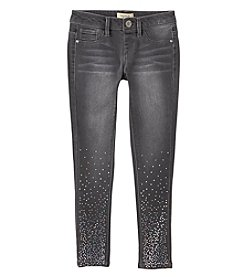 Squeeze Girls' 7-14 Star Foil Skinny Jeans
