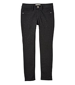 Squeeze Girls' 7-14 Studded Sateen Jeans