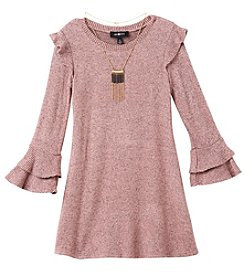 A. Byer Girls' 7-16 Ruffle Sweater Dress