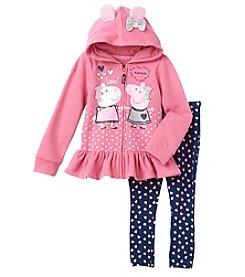 Peppa Pig Girls' 2T-6X Hoodie And Leggings Set