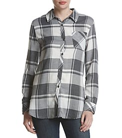 Hippie Laundry Plaid Box Pleat Shirt