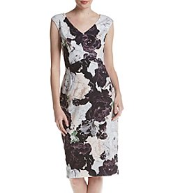 Ivanka Trump Floral Printed Scuba Dress