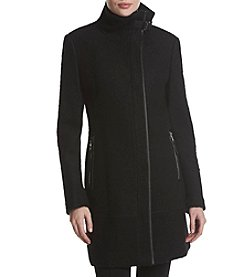 Calvin Klein Stand Collar Zip Walker Coat