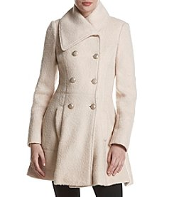 GUESS Asymmetrical Collar Button Walker Coat