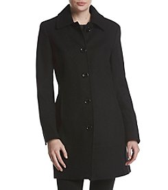 Calvin Klein Single Breasted Button Front Walker Coat