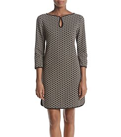 Max Studio Edit Keyhole Neck Jacquard Dress