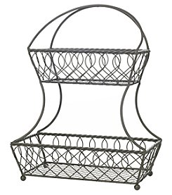 Mikasa Lattice 2 Tier Countertop Basket