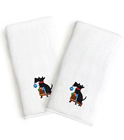 Linum Home Textiles Set of 2 Embroidered Luxury Turkish Cotton Hand Towels
