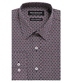 Nick Graham Mens Medallion Modern Fit Dress Shirt