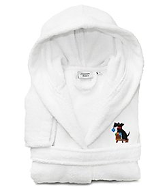 Embroidered Linum Kids 100 percent Turkish Cotton Hooded Unisex Terry Bathrobe