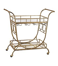Sterling Mirrored Server Bar Cart