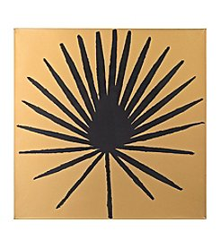 Sterling Palm Frond on Metallic Gold Wood