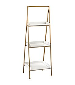 Sterling Kline White and Gold Accent Shelf