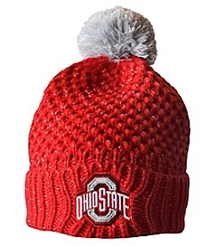 J. America Ohio State Buckieyes Women's Defend Til The End Pom Pom Hat