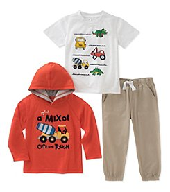 Kids Headquarters Boys' 12M-7 3 Piece Mix Of Cute And Tough Set