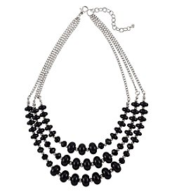Studio Works Silvertone Nested Bead Necklace