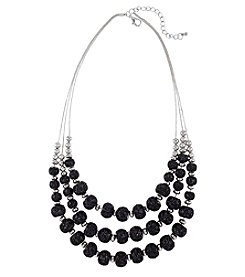 Studio Works Silvertone Multi Strand Statement Necklace