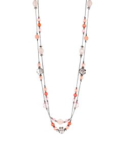Studio Works Silvertone Illusion Statement Necklace