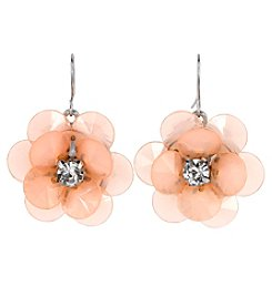 Studio Works Silvertone Flower Drop Earrings