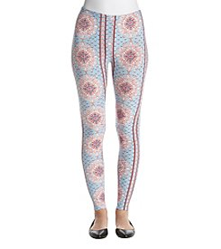 Pink Rose Abstract Print Leggings