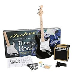 Archer™ SS10 Blues & Rock Jr. Black Electric Guitar Package