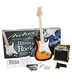 Archer SS10 Blues & Rock Jr. Sunburst Electric Guitar Package